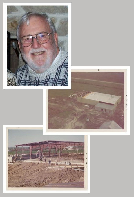 Collage of Charlie Biehn founder of CB Manufacturing and historical imagery of American Cutting Edge.