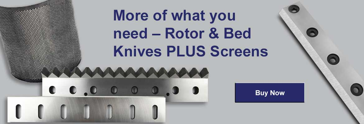 ACE is your #1 source for granualtor rotors knives, bed knives, and screens